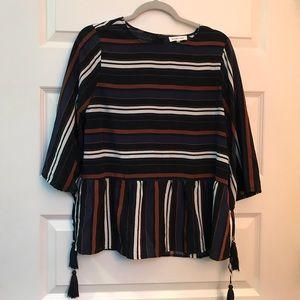 SUGAR LIPS striped dressy top